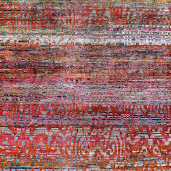 Kundan Diffusion Koti Silk Tiger Ikat on a Multi-Colored Abrash | Alfombras / Alfombras de diseño | Zollanvari