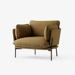 Cloud One Seater LN1 steelcut | Poltrone lounge | &TRADITION
