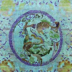 Kundan Pure Silk Dancing Dragon 3 | Formatteppiche / Designerteppiche | Zollanvari