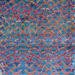 Kundan Pure Silk Iridescence Fishscales | Formatteppiche / Designerteppiche | Zollanvari