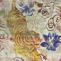 Kundan Pure Silk Pouncing Tiger | Formatteppiche / Designerteppiche | Zollanvari