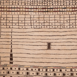 Transitional Tribal Magrebi Zigorat 3 | Formatteppiche / Designerteppiche | Zollanvari