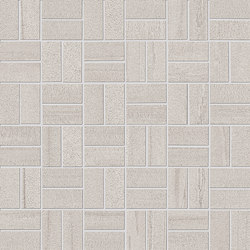 Evo-Q Light Grey Mosaico Domino | Ceramic mosaics | EMILGROUP