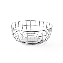 Norm Wire Bowl, Chrome | Storage boxes | MENU