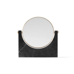 Pepe Marble Mirror | Brass/Black | Mirrors | MENU