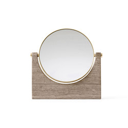 Pepe Marble Mirror, Brass/Honed Brown | Espejos | MENU