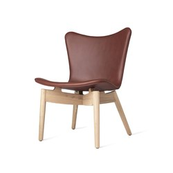 Shell Lounge Chair - Ultra Cognac - Mat Lacquered Oak | Armchairs | Mater