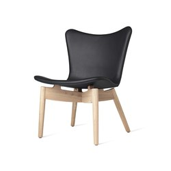 Shell Lounge Chair - Ultra Black - Mat Lacquered Oak   Armchairs   Mater