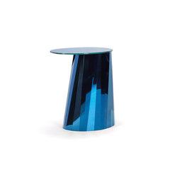 Pli Side Table High Blue Satin | Tavolini alti | ClassiCon