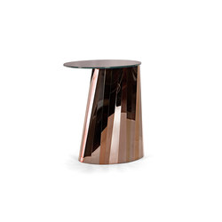 Pli Side Table High Bronze Glossy | Tavolini di servizio | ClassiCon