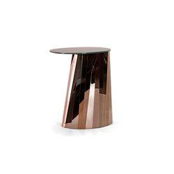 Pli Side Table High Bronze Satin | Tavolini alti | ClassiCon