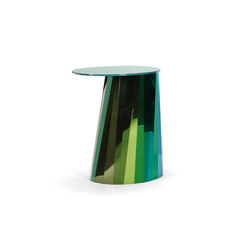 Pli Side Table High Green Satin | Tavolini alti | ClassiCon