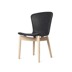 Shell Dining Chair - Dunes Anthrazit - Mat Lacquered Oak | Chairs | Mater