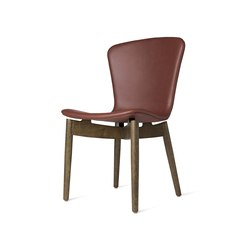 Shell Dining Chair - Ultra Cognac - Sirka Grey Oak | Chairs | Mater