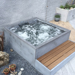 Beton im Bad | Design Beispiel | Außenwhirlpools | Dade Design AG concrete works Beton