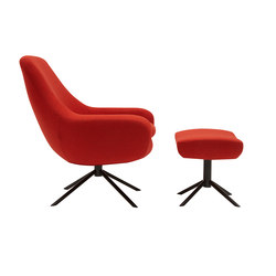 Noomi Swivel Chair & Pouf | Armchairs | Softline A/S
