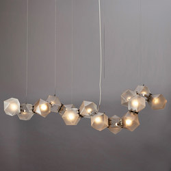 WELLES GLASS Long Chandelier | Suspended lights | Gabriel Scott