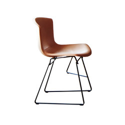 Bertoia Sedia Pelle | Visitors chairs / Side chairs | Knoll International