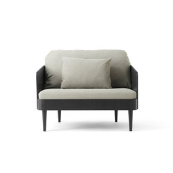 Septembre Chair, Black Ash/Light Grey | Loungesessel | MENU