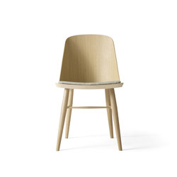Synnes Dining Chair, Natural Oak/White Melange | Restaurant chairs | MENU