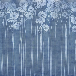 Denim Daisy Blue | Bespoke wall coverings | GLAMORA