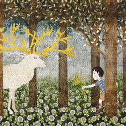 Il cervo e il bambino | Wandbilder / Kunst | TECNOGRAFICA