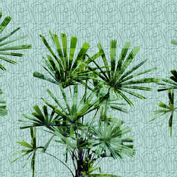 Geometric Cubic Plant | Bespoke wall coverings | GLAMORA