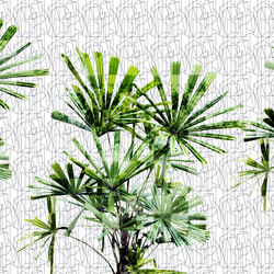 Geometric Cubic Plant | Wall coverings | GLAMORA