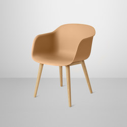 Fiber Armchair | wood base | Stühle | Muuto