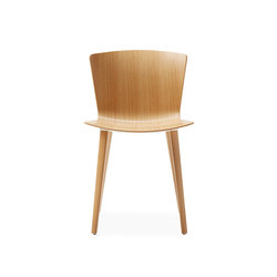 Slam Side Chair Wood Leg Base | Sillas para restaurantes | Leland International
