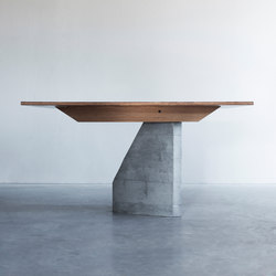 PLY 3 Series table with 1 base | Mesas comedor | Van Rossum