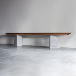 PLY 3 Series table with 2 bases | Dining tables | Van Rossum