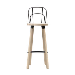Partridge Bar Stool with Backrest | Barhocker | DesignByThem