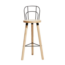 Partridge Bar Stool with Backrest | Taburetes de bar | DesignByThem