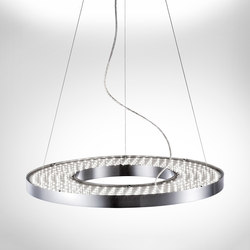 Vivaa ring suspended luminaire general lighting from h for Luminaire double suspension