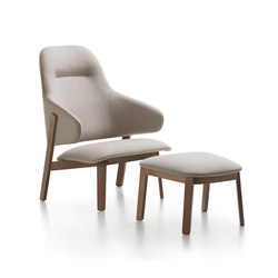 Wolfgang High Back Lounge | Armchairs | Fornasarig