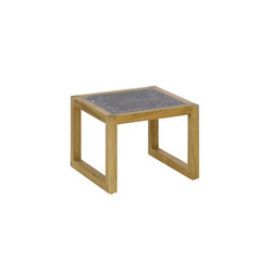 Kontiki Side Table with Lava Stone Top | Side tables | emuamericas