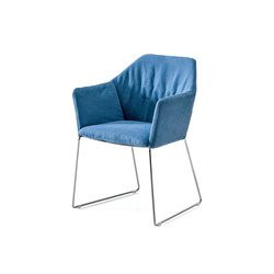 New York Chair with armrests | Sièges visiteurs / d'appoint | Saba Italia