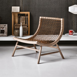 Sitar | Armchair | blanched | Loungesessel | Saba Italia