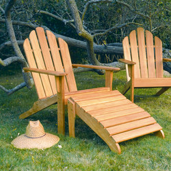Adirondack Chair + Ottoman | Poltrone da giardino | Kingsley Bate