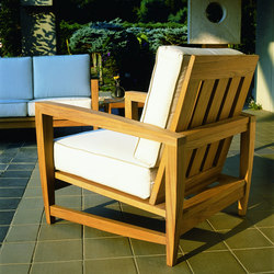 Amalfi Deep Seating Lounge | Garden armchairs | Kingsley Bate