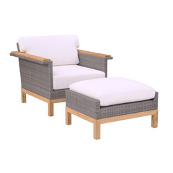 Azores Lounge Chair + Ottoman | Sessel | Kingsley Bate