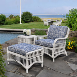 Chatham Lounge Chair + Ottoman | Garden armchairs | Kingsley Bate