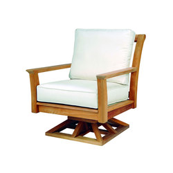 Chelsea Deep Seating Swivel Rocker Lounge Chair | Garden armchairs | Kingsley Bate
