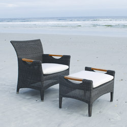 Culebra Club Chair + Ottoman | Poltrone da giardino | Kingsley Bate