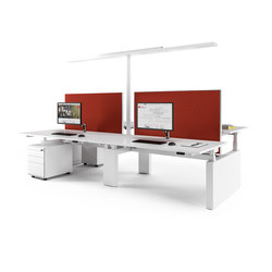 Canvaro Compact Desking programme | Desking systems | Assmann Büromöbel