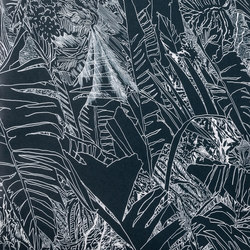 Jungle | White on Black | Wall coverings / wallpapers | Petite Friture