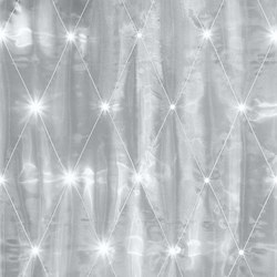 Organza Rombe | white/anthracite | Drapery fabrics | Forster Rohner Textile Innovations