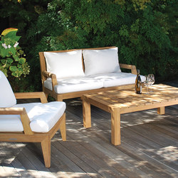 Mendocino Deep Seating Settee | Gartensofas | Kingsley Bate