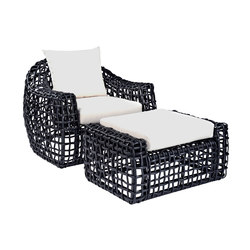 Miami Lounge Chair + Ottoman | Garden armchairs | Kingsley Bate